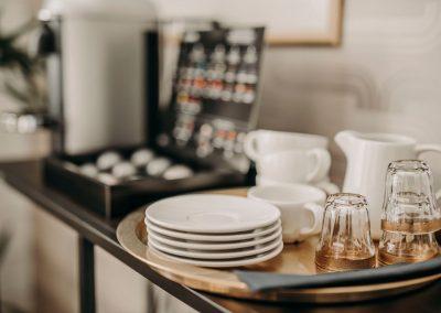 Kaffe och the serveras
